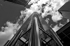 1 Canada Square (B/W) photo by DaveJC90