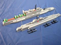 I-600 and B-4 class submarines photo by Eínon