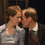 Kate Fry (Hedda) and Mark L. Montgomery (Eilert Lovborg) in HEDDA GABLER at Writers Theatre.  Photo by Michael Brosilow.