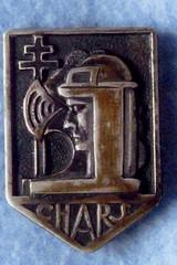 1ère Cie des Chars - insigne de Claude Robédat MPLF 15 juin 1941 Col P. Robedat