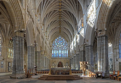 Exeter Cathedral - the nave, altar and west window photo by Baz Richardson (loads of catching up to do!)