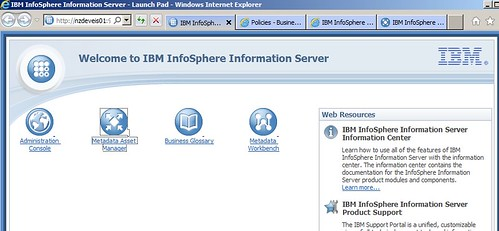 IBM Information Server Launchpad