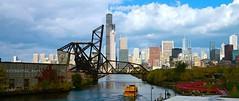 Saint Charles Air Line Bridge/ B&O Bridge/Willis Tower - Taken From 18th Street Bridge - Chicago IL photo by Meridith112