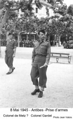 BM 4 Chambarand - 1945 8 Mai -Antibes prise  d'armes  - Col. Emile Gauthier