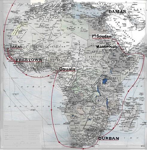 1941- Erythrée - carte vers Erythrée- col.Paul Chanoine