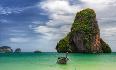 Railay beach in Krabi Thailand photo by anekphoto
