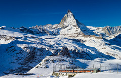 Matterhorn & Gornergat Bahn (Zermatt, Switzerland) photo by Mac Qin