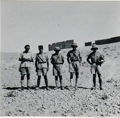 BM 2 - Syrie- 1941 12 juil -  Fin de la  campagne  - 5e cie du BM 2  :  Mabille, Amiel, Cayrel, Gabard et Calomme Fonds Amiel