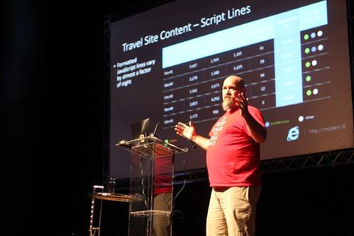 Josh Holmes onstage at BrazilJS 2013