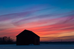 twilight red shed photo by IndyEnigma