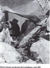 RA- 1944 - Italie- Observatoire au dessus du Garigliano cote 499