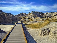 USASouth Dakota Badlands – Walkway to a viewing platform photo by alsimages1 - Thank you for 860.000 PAGE VIEWS