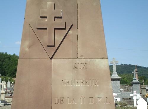 Cimetière de Giromagny - Monument