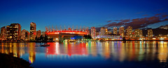 Vancouver BC Place in Red at Night photo by TOTORORO.RORO