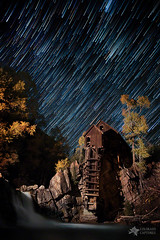 Starry Night Star Trails At The Crystal River Mill photo by Mike Berenson - Colorado Captures