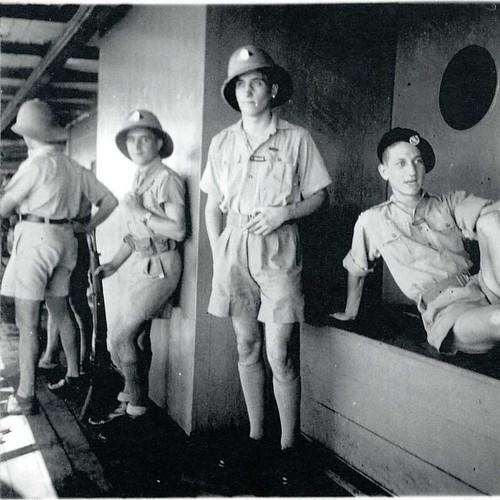 1ère Cie des Chars- 1941 mars- Claude Robédat à bord du Thysville Col. P; Robedat