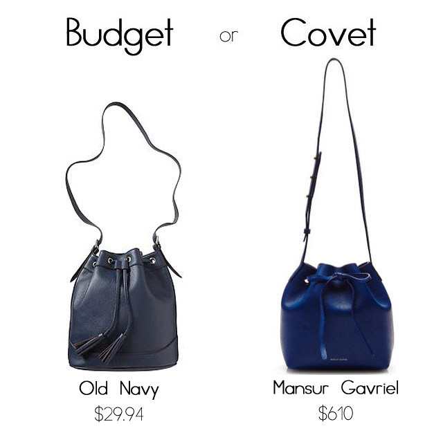 budget or covet bucket bag copy