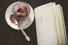 "chocolate ice cream...and a Chinese poem ""7 Miles Fragrant"" I photo by lisa c shen"