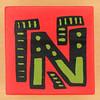 Bob and Roberta Smith Alphabet Block Letter N