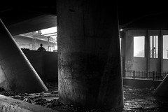 a man under the bridge photo by SungsooLee.com