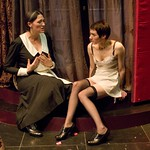 Elizabeth Laidlaw and Helen Sadler in THE MAIDS at Writers Theatre. Photos by Michael Brosilow.
