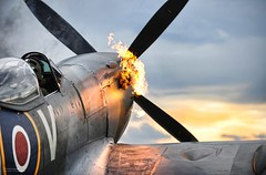 Spitfire Fighter Aircraft 'Hot Starting' photo by Defence Images