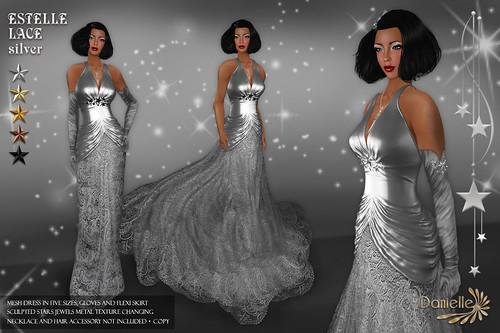 DANIELLE Estelle Lace Silver