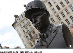 Buste du général Brosset Place général Brosset à Lyon