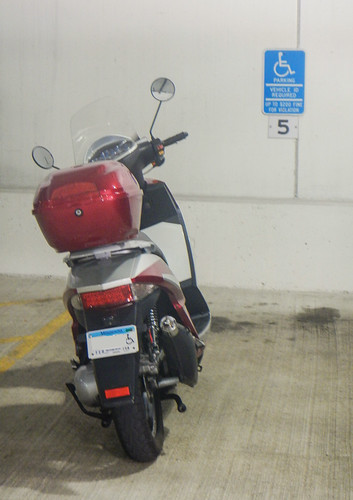 Disability Plate on Motorcycle