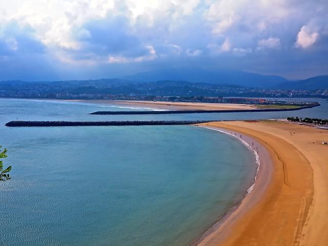 Bahía de Txingudi vista desde Hondarribi