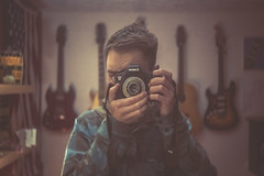 Rangefinder Lens Mod for DSLR - Self Portrait photo by Ben K Adams