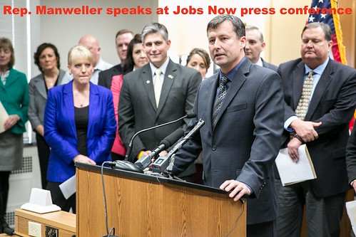 Rep. Matt Manweller speaks at House-Senate press conference