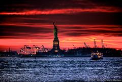 Liberty Island Sunset photo by Riccardo Maria Mantero