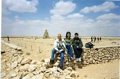 2002 - Pèlerinage Bir Hakeim- Pierre Robédat et ses petits enfants