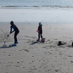 Playing on the beach<br/>17 May 2014