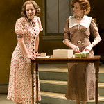 Jessie Mueller (Amalia) and Heidi Kettenring (Ilona) in SHE LOVES ME at Writers Theatre. Photos by Michael Brosilow.