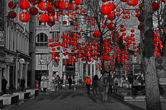 Lanterns in St Annes Square, Manchester, for the Chinese New Year photo by Gidzy