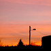 sunset in petrinja, croatia