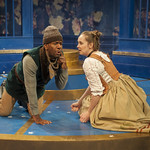LaShawn Banks (Cliton) and Anne E. Thompson (Isabelle) in THE LIAR at Writers Theatre. Photo by Michael Brosilow.