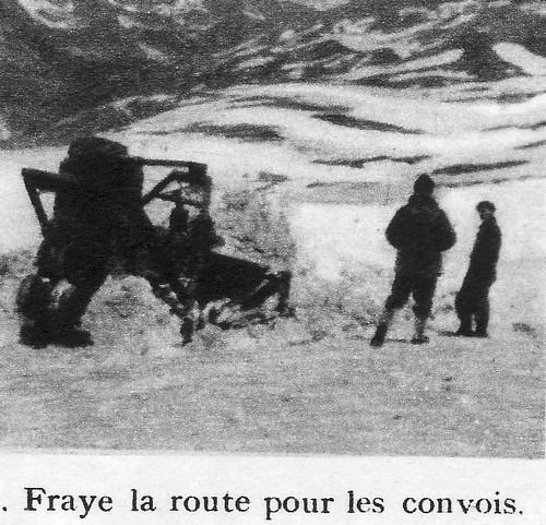 Génie -Authion 1945 printemps - Genie fraye la route pour les convois