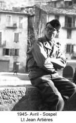 BM 4 Chambarand - 1945 Avril _ Sospel Lieutenant Jean Artieres -  Fonds Emile Gauthier(3)