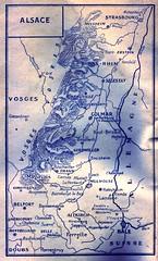 1945 - Alsace- ouvrage 1ere armée en Alsace