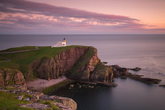 Stoer Lighthouse Sunset. photo by Gordie Broon.