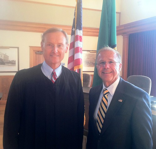 Muri swearing in July 3 at Steilacomm Town Hall with Superior Court Judge Jack Nevin.