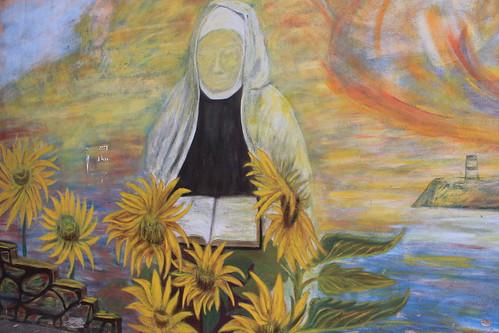 mural of a nun
