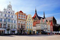 Neuer Markt (New Market Square) in Rostock Germany photo by TOTORORO.RORO