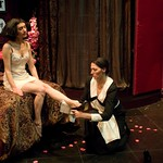 Helen Sadler and Elizabeth Laidlaw in THE MAIDS at Writers Theatre. Photos by Michael Brosilow.