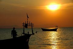 Cambodia coucher de soleil ile aux lapins photo by ichauvel