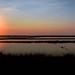 Ibiza - Amanecer sobre los estanques de las salinas de Ibiza