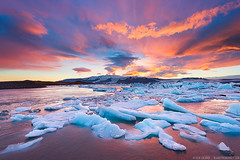 Colors of Jokulsarlon || Iceland photo by blame_the_monkey
